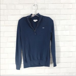 Vineyard Vines navy 3/4 zip pullover